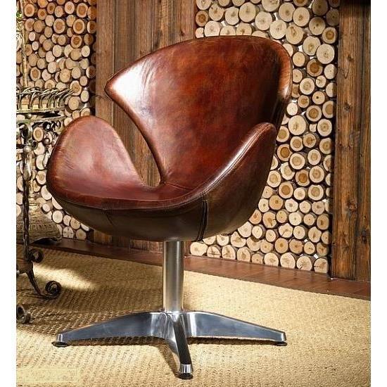 Fauteuil En Cuir Chaise Pivotante En Cuir Design Vintage Modèle - Fauteuil cuir designer