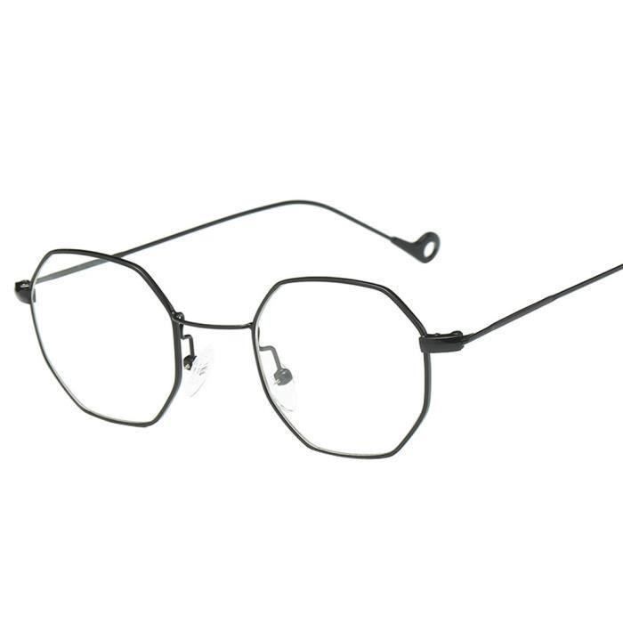 Femmes hommes mode métal irrégularités monture lunettes de soleil de marque Classic boîte noire ordinaire