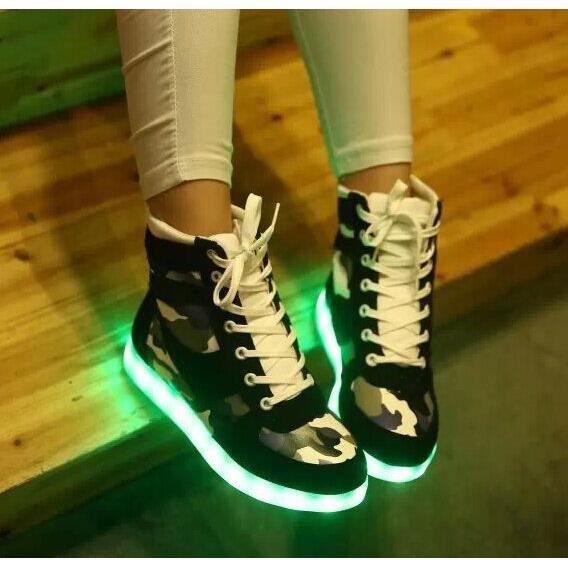 baskets-Hommes de recharge USB lumière lumineuse émettant chaussures chaussures chaussures lumières baskets LED