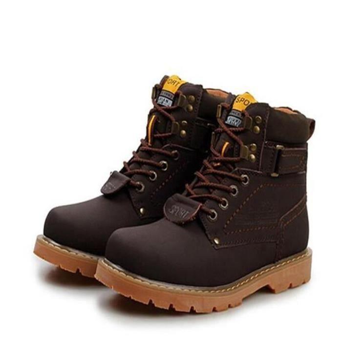 Haute qualité chaussure de travail homme antidérapantes chaussures en cuir Bottines en Cuir - Noir uJqpF9U