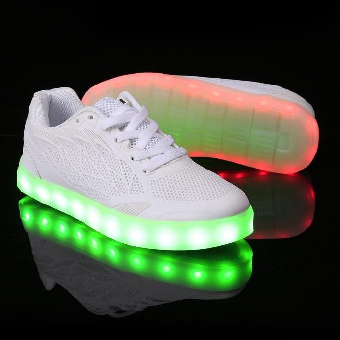 maille LEDen Baskets Sneakers Mode Lumière gCUwtqI