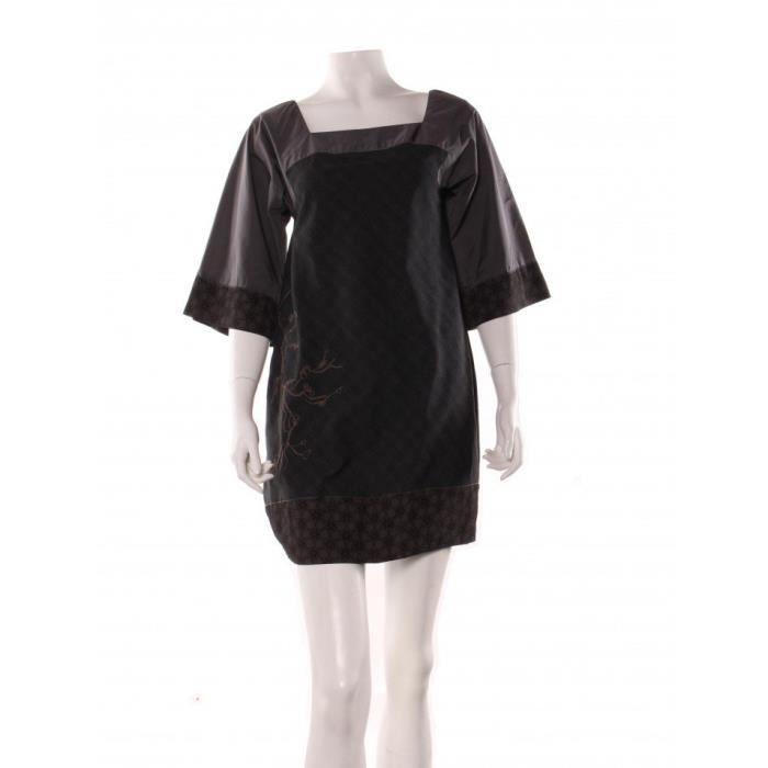 Polyester Robe COPINE Marron en courte COP 36 vfUZ1v