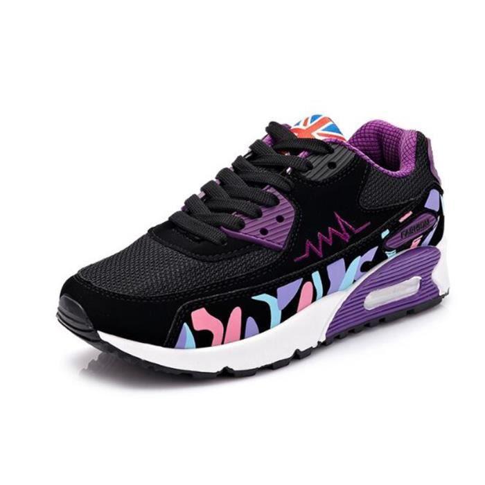 Baskets femme Poids Léger Antidérapant Chaussures de sport Marque De Luxe Durable de plein air Grande Taille 35-40 WHRKud3B4Z