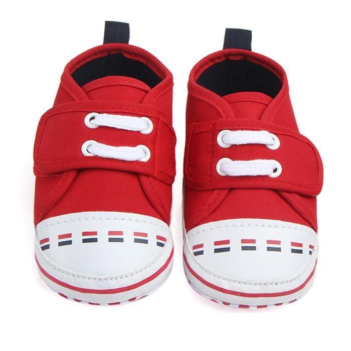 BOTTE Enfants Garçon Fille Sport Chaussures Sneakers Bébé Infant Fond Bas Premiers Marcheurs@Rouge AEazlD