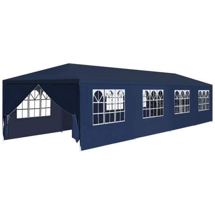 Haute qualité Luxueux Magnifique Economique Tonnelle de jardin 3 x 12 m Bleu