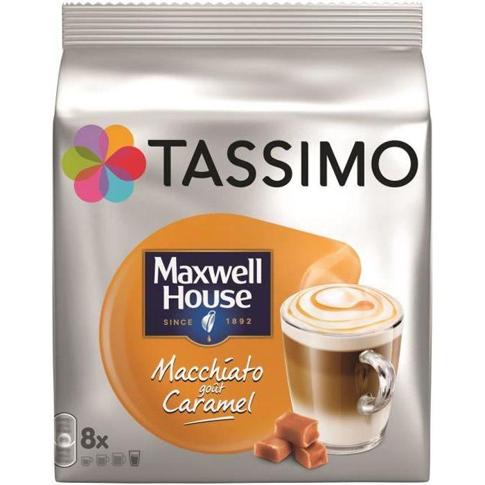 CAFÉ - CHICORÉE Tassimo Maxwell House Macchitato Caramel Cafe dose