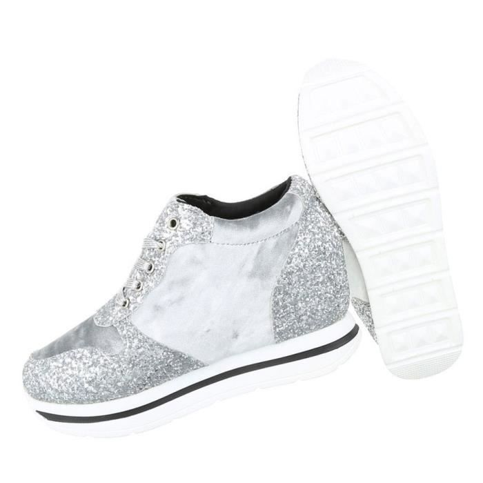Chaussures femmes chaussures de loisirs Sneakers gris 41 6Qhf3iA9d