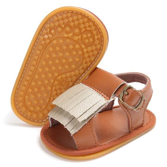 BOTTE Bébé nouveau-né Tassel Soft Sole chaussures en cuir Fille Toddler Berceau Prewalker 0-18 M@BrownHM wSVKAJXhMc