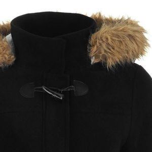 manteau duffle coat capuche fourrure achat vente manteau duffle coat capuche fourrure pas. Black Bedroom Furniture Sets. Home Design Ideas