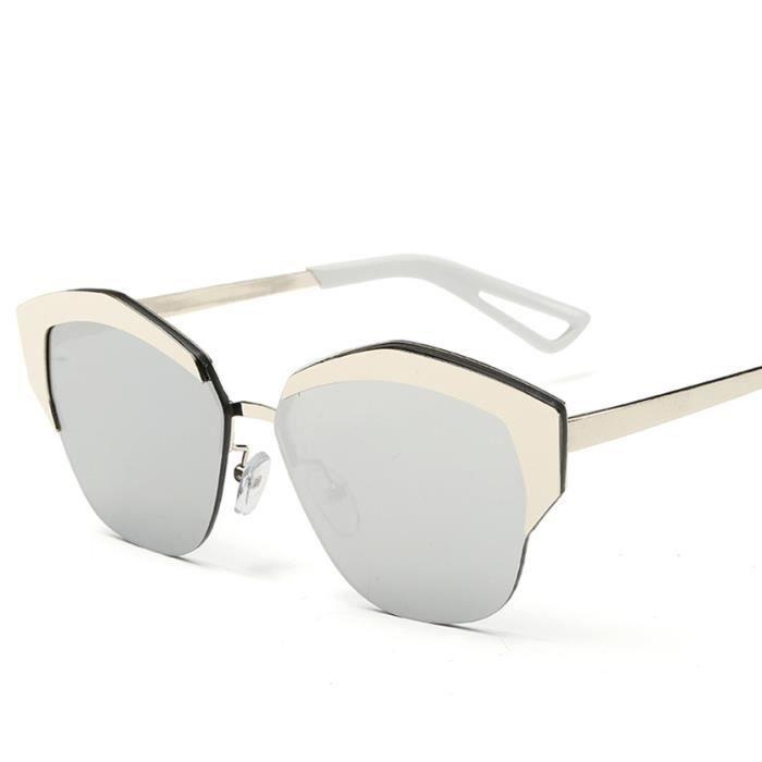 YKS fashion image du film de couleur des lunettes de soleil 2206 dargent de mercure blanc