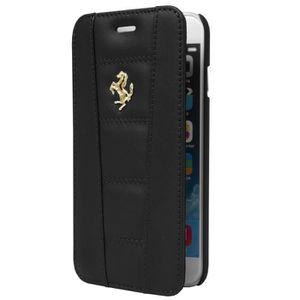 Ferrari étui Folio cuir noir pour APPLE IPHONE 6/6S