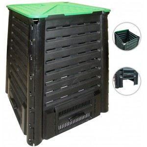 COMPOSTEUR - ACCESSOIRE Composteur 600 l noir-vert      0887