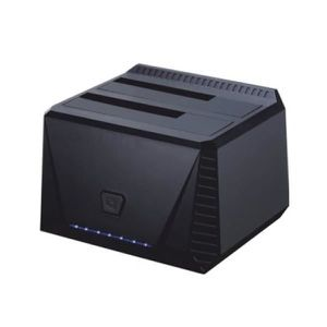STATION D'ACCUEIL  Tooq TQDS-902B Double Bay Docking Station HDD Noir