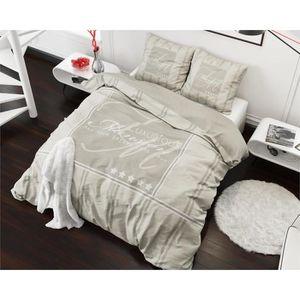 housse de couette 200x220 achat vente housse de couette 200x220 pas cher cdiscount. Black Bedroom Furniture Sets. Home Design Ideas