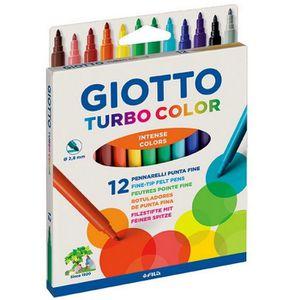 FEUTRES Lot de 12 feutres couleurs intenses Turbo Color à