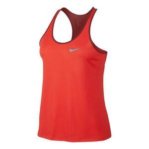 c755a62f345 T-SHIRT MAILLOT DE SPORT Débardeur Nike Breathe Rapid orange femme