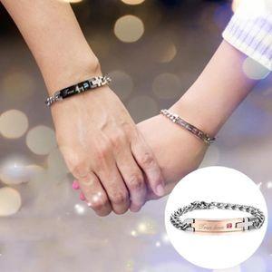BRACELET - GOURMETTE Saint Valentin cadeau créatif Bracelet de couple e