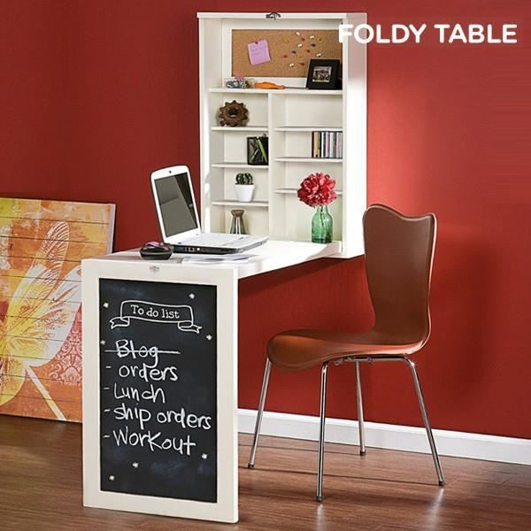 bureau mural rabattable foldy table w achat vente. Black Bedroom Furniture Sets. Home Design Ideas