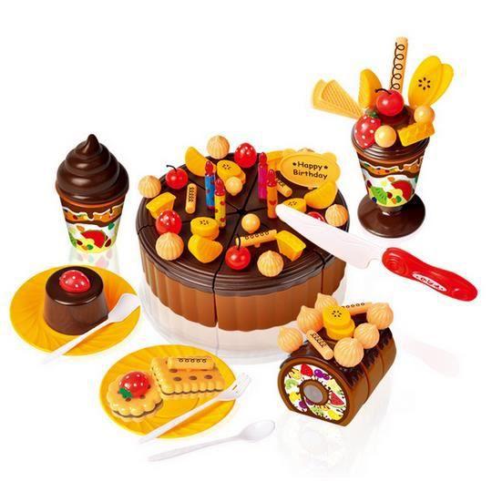 73pcs enfants cuisine jouets enfants g teau g teau d 39 anniversaire jouet de caf achat vente. Black Bedroom Furniture Sets. Home Design Ideas
