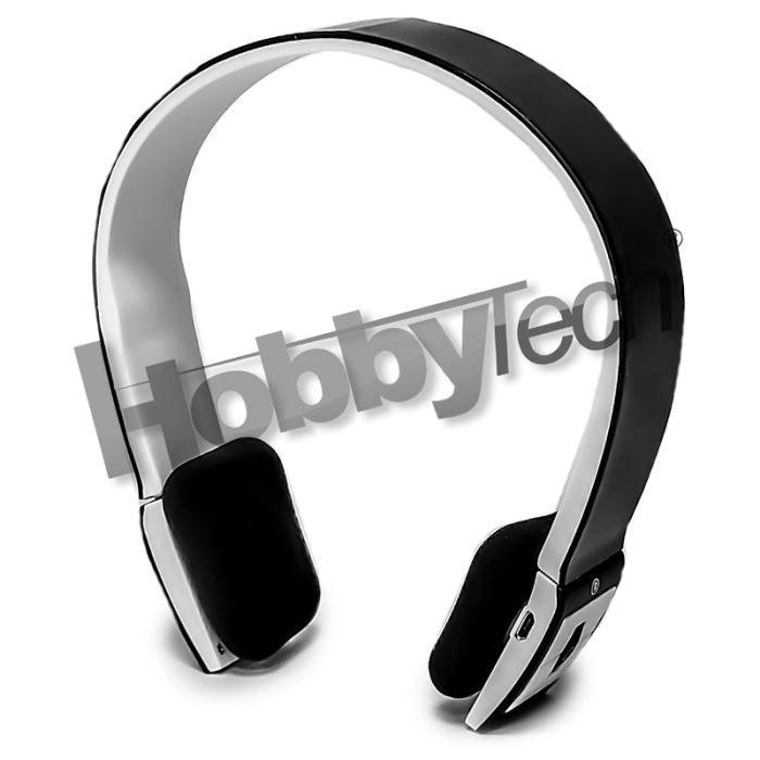 Casque Stéréo Bluetooth Qualité Hifi Noire Casque écouteurs