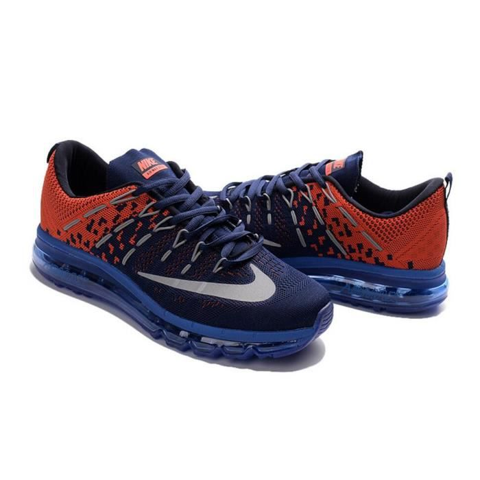 outlet store ab5c2 a4c51 BASKET Hommes Nike Flyknit Air Max 2016 Baskets Chaussure