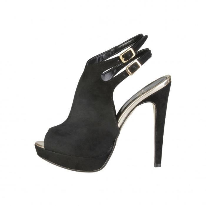Sandale - Nu-Pieds - V 1969 - Sandales pour Femme noir V 1969