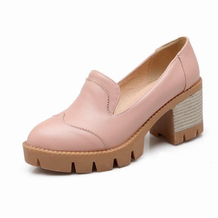Chaussures Femme élégante Plateforme En PU Cuir Toutes les pointures de la 35 à la 43 ubFx4v