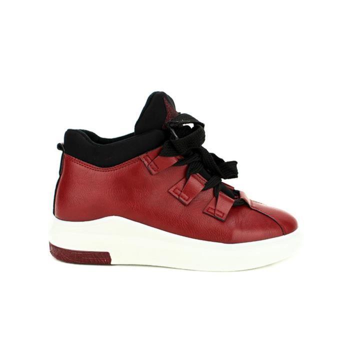 basket, Baskets Marron Chaussures Femme, Cendriyon