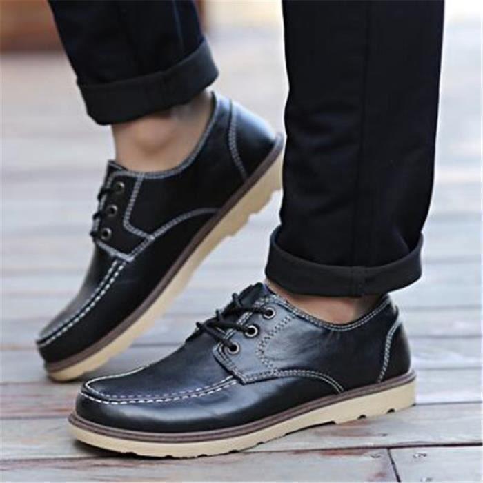homme chaussures Cool Nouvelle Mode Marque De Luxe bottes en cuir Durable de plein air hydrofuge Grande Taille 39