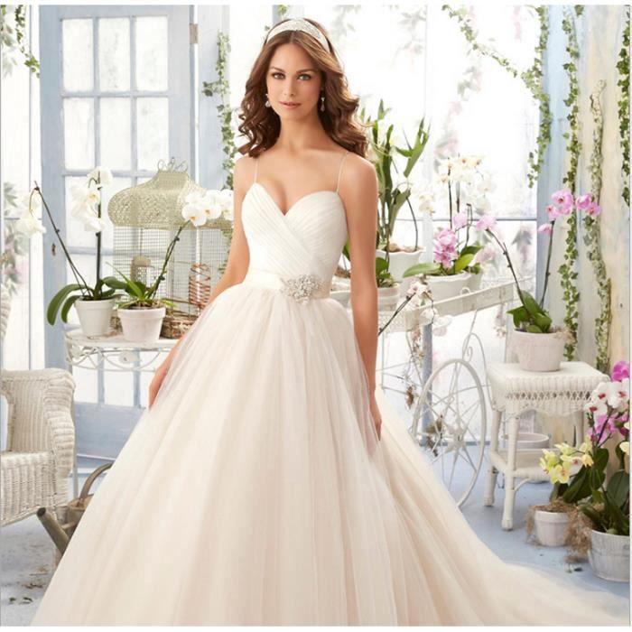 891de616e96 HUIXIN® Mariage romantique de haute qualité Robe de mariée Blanc ...