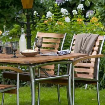 salon de jardin en bois d\' acacia 6 couverts - Achat / Vente salon ...