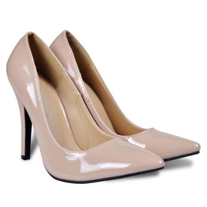 Chaussures à talons hauts coloris chair pour femme