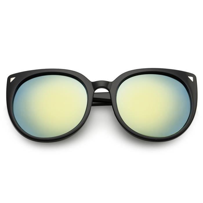 Les femmes UV400 lunettes de soleil en plastique Cadre Traitement des lentilles Lunettes de soleil NO.3