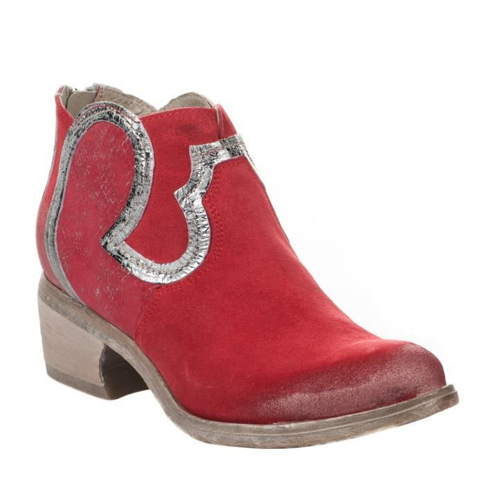 Boots femme - KHRIO - Rouge - 7508 - Millim
