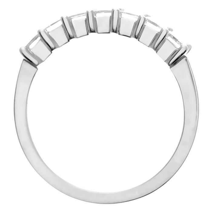 Revoni Bague alliance Diamant Or Blanc 750° Femme: Poids du diamant : 1 ct - CD-PR09555W18JPK-P