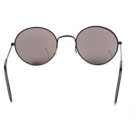Lunettes Soleil John monture noire verres reflets Bleu - Achat   Vente  lunettes de soleil Mixte Adulte - Soldes  dès le 9 janvier ! Cdiscount c1abb47a94c9