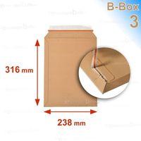 ENVELOPPE Lot de 5 Enveloppes carton B-Box 3 MARRON format 2