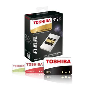 TOSHIBA SSD Q300 Pro - 512 Go - 2,5'' - SATA