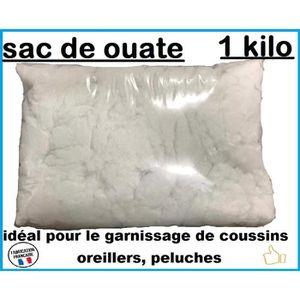 OUATE Ouate de rembourrage blanche ,sac de 1 kg, Lavable