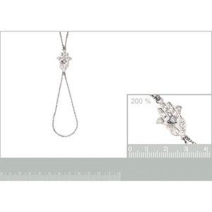 bb631b6a37f11 bracelet chaine de main 18cm en argent 925° main de fatima fatma zirconium  820165