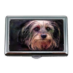 Tui Porte Cigarette Chien Petite Tte Portrait Animal Mignon Canine Carte Professionnelle De Visite