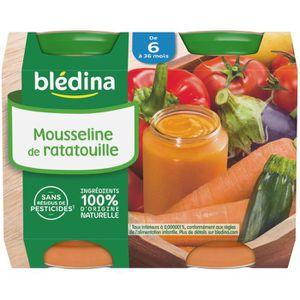 PURÉES DE LÉGUMES BLEDINA Petits pots Mousseline de Ratatouille - 2x