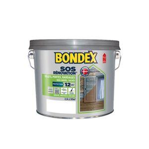 PEINTURE - VERNIS Bondex Lasure Opaque Rénovation Volets - Blanc Sat