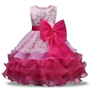 6b130da34c30d Fleur fille tutu robe fête d anniversaire mariage princesse Toddler bébé  filles vêtements enfants Rose Rose - Achat   Vente robe de cérémonie -  Cdiscount