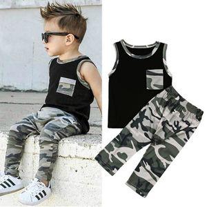 Ensemble de vêtements Noir Enfant Garçon Ensemble de Vêtements en Coton