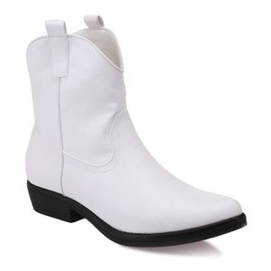 BOTTE Bottines santiags blanches