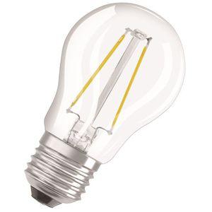 AMPOULE - LED OSRAM Ampoule LED E27 sphérique claire 4,5 W équiv