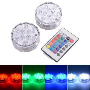 PROJECTEUR - LAMPE XCSOURCE 10 Lumières LED RGB MultiColores Submersi
