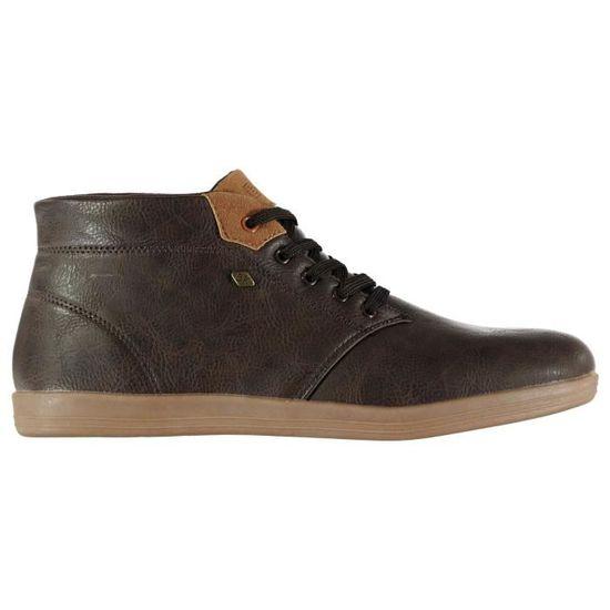 British Knights Copal Mid Homme Chaussures Montantes En Toile Marron Marron foncé - Achat / Vente basket