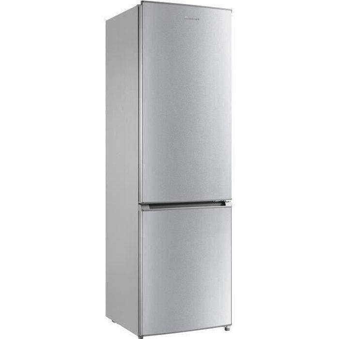 BRANDT BC8511NS Réfrigérateur Combiné - 268L - No Frost - A+ - L54,5 x P62,5 cm - Silver
